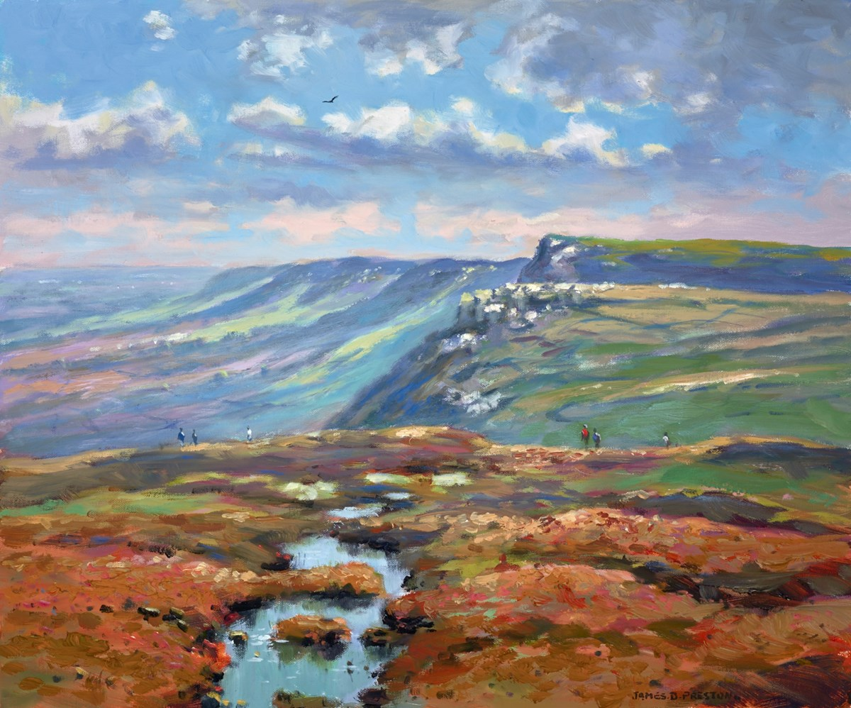 Peak District (Kinder Scout) by james preston -  sized 24x20 inches. Available from Whitewall Galleries